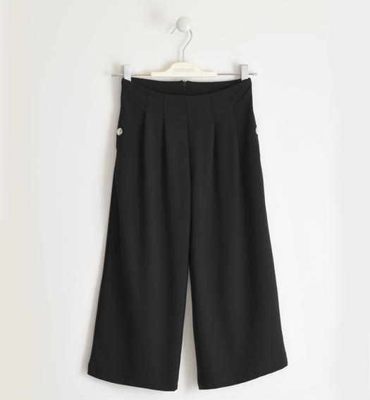 Sarabanda trousers, palazzo model for girl from 6 to 16 years NERO-0658