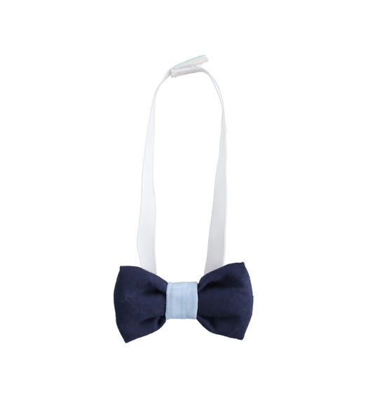 Newborn 100% cotton bow tie with Velcro strap for baby boy from 0 to 24 months Minibanda NAVY-3854