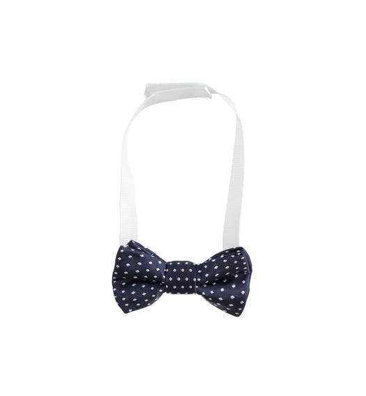 Blue newborn bow tie micro polka dots pattern for baby boy from 0 to 24 months Minibanda NAVY-3854