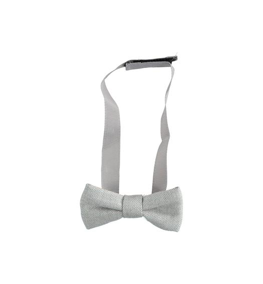 Newborn bow tie with comfortable adjustable strap from 0 to 24 months Minibanda GRIGIO MELANGE-8992