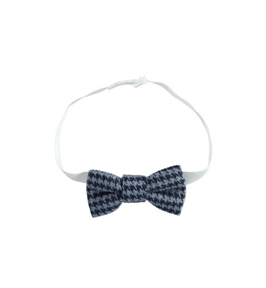 Newborn boy bow tie in houndstooth from 0 to 24 months Minibanda NAVY-3854