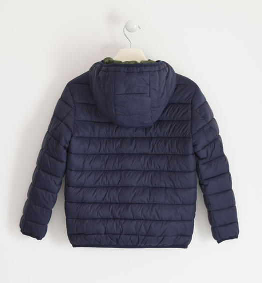 Down jacket for boy 100 grams model with hood for boy from 6 to 16 years Sarabanda NAVY-3854