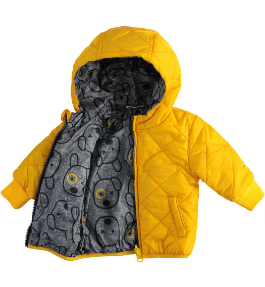 Reversible down jacket for newborn boy model 100 grams from 0 to 24 months Minibanda GIALLO-1615