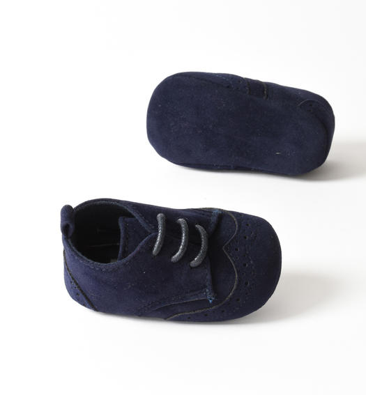Faux leather newborn shoes for ceremony from 0 to 24 months Minibanda NAVY-3854