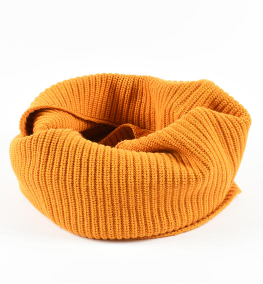 Ring scarf in ribbed tricot for boys from 6 to 16 years Sarabanda ORANGE-1737