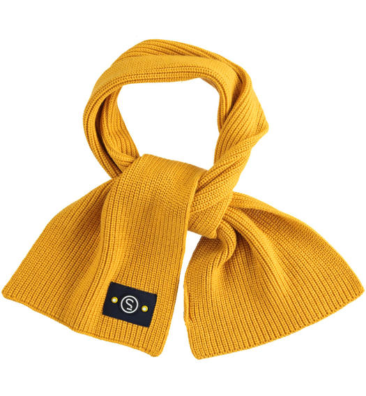 Tricot scarf made in ribbed knit for baby boys from 6 months to 7 years Sarabanda OCRA-1536