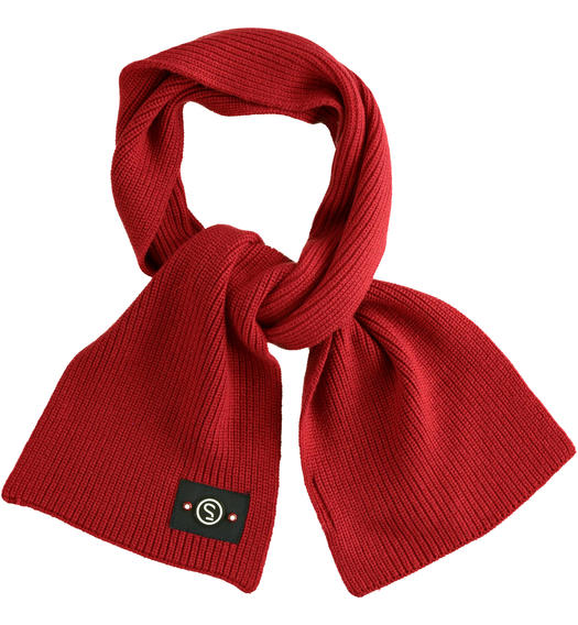 Tricot scarf made in ribbed knit for baby boys from 6 months to 7 years Sarabanda ROSSO-2536