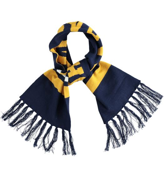 Tricot scarf college-style tricot for baby boys from 6 months to 7 years Sarabanda NAVY-3854
