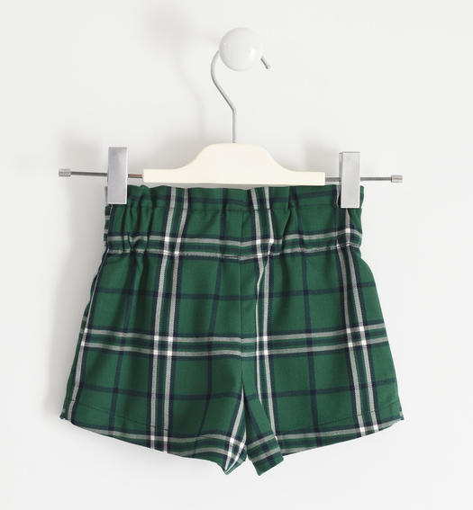 Tartan print shorts for girl from 6 months to 7 years Sarabanda VERDE-4726