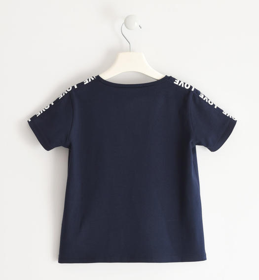 Nice t-shirt with printed lace for girl from 6 to 16 years Sarabanda NAVY-3885