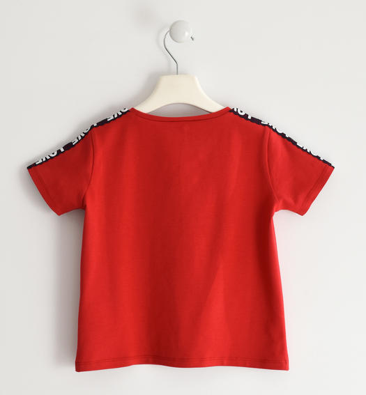 Nice t-shirt with printed lace for girl from 6 to 16 years Sarabanda ROSSO-2256