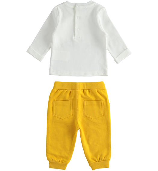 Nice outfit for newborn boy with little dogs from 0 to 24 months Minibanda GIALLO-1615