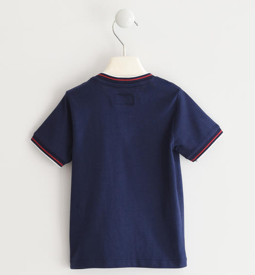 "Sarabanda 100% cotton ""Catch the waves"" t-shirt for boy from 6 months to 7 years NAVY-3854"