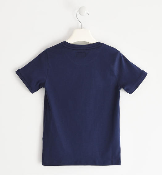 """College Game"" cotton t-shirt for boy from 6 months to 7 years old Sarabanda NAVY-3854"