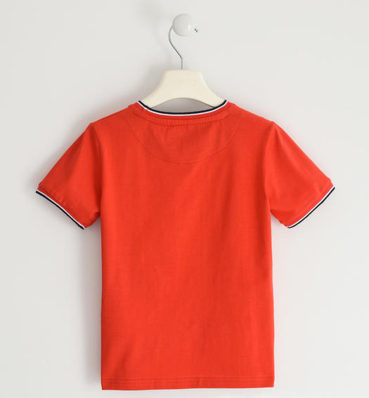 Sarabanda jersey t-shirt with embossed graphics for boy from 6 to 16 years ROSSO-2235