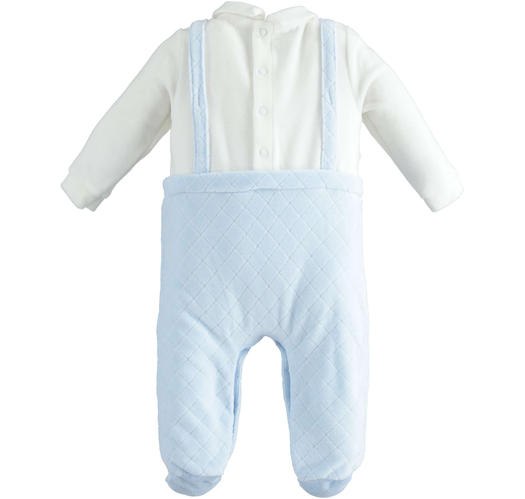 Chenille newborn baby suit fake dungarees model for newborn from 0 to 24 months Minibanda SKY-5818