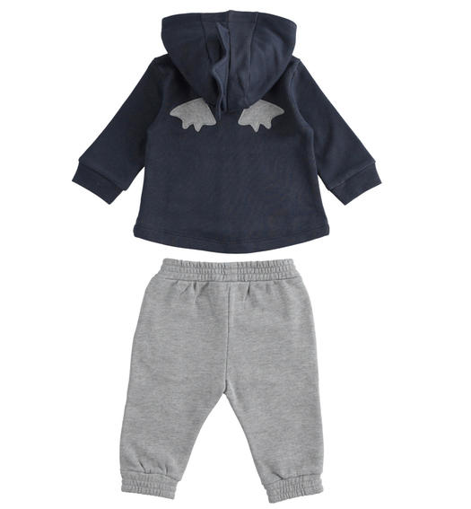 Cotton blend fabric newborn baby suit with comfortable trousers from 0 to 24 months Minibanda NAVY-3885