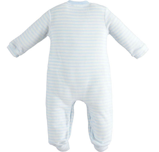 Unisex model onesie for newborn with all over striped pattern for babies from 0 to 18 months Minibanda SKY-5818